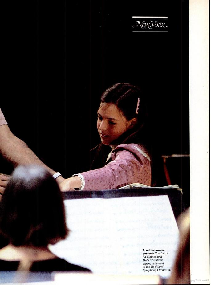 With conductor Ed Simons and Rockland Symphony, November 1984